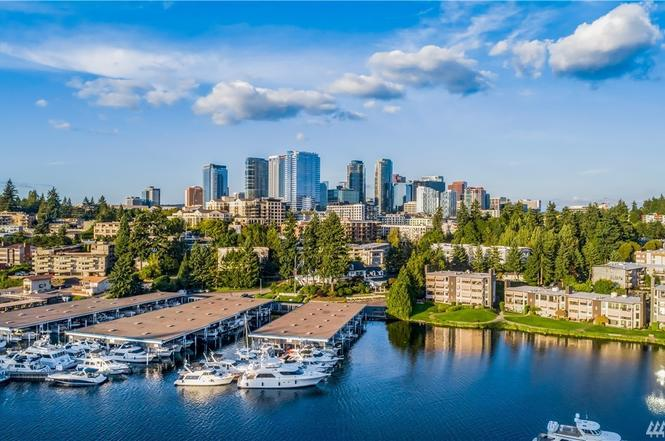 Waterfront homes in Bellevue WA