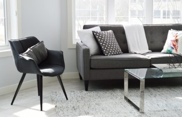 Example of a Condo Living Room Chair and Sofa